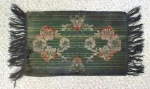 Click here to enlarge image and see more about item LINEN350: Victorian Scarf Cut Velvet Floral