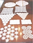 Click here to enlarge image and see more about item LINEN422: Beautiful Crochet Doilies Scarves 10 PC