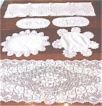 Click here to enlarge image and see more about item LINEN426: Vintage Doilies & Runners 6 PC Lace + More