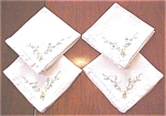 Click here to enlarge image and see more about item LINEN430: Vintage Napkins Fiesta Colors Embroidery 8 PC