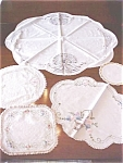 Click here to enlarge image and see more about item LINEN437: Vintage Embroidered Scarves 5 PC
