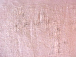 Click to view larger image of Peach Linen Tablecloth 56 x 75 Vintage (Image1)