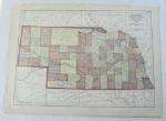 Click to view larger image of 1911 Map of Nebraska & Kansas (Image1)