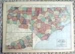 Click to view larger image of 1911 Map of North & South Carolina (Image1)