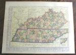 Click to view larger image of 1904 Map Kentucky Tennessee Indiana (Image1)