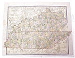 Antique Map Kentucky Maryland Delaware WV TN Crams 1883