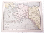 Map Alaska Nova Scotia New Brunswick Crams 1883