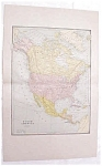 Map North America Large Fold Out Crams 1883 Antique