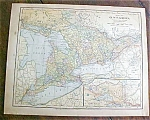Click to view larger image of Antique Map Ontario Mexico 1901 (Image1)