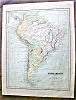 Click to view larger image of Antique Map Maine & South America 1901 (Image3)
