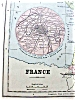 Click to view larger image of Antique Map France Germany 1901 (Image2)
