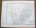 Antique Map Australia South Africa 1901