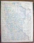 Antique Map Minnesota Kentucky Tennessee 1901