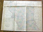 Antique Map Missouri 1901 Large Foldout