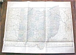 Antique Map Ohio 1901 Large Foldout