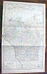 Antique Map Wisconsin 1901 Large Foldout