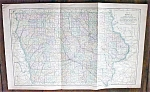Click to view larger image of Antique Map Iowa 1901 Large Foldout (Image1)