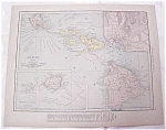 Antique Maps Hawaii Philippine Islands 1917 Rand