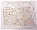 Antique Map North Dakota South Dakota 1917 Rand