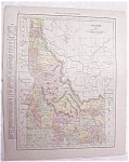 Antique Map Idaho Montana 1917 Rand McNally