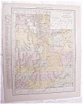 Antique Map Utah Wyoming 1917 Rand McNally