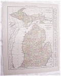 Antique Map Michigan Detroit City 1917 Rand McNally