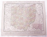 Antique Map Ohio Cincinnati Streets 1917 Rand McNally