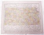 Click to view larger image of Antique Map Kansas Nebraska 1917 Rand McNally (Image1)