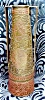 Click to view larger image of Arts and Crafts Brass Vase England Figurals (Image2)