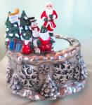 Click to view larger image of Twirling Santa Music Box Jingle Bells (Image2)