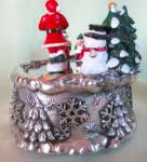 Click to view larger image of Twirling Santa Music Box Jingle Bells (Image3)
