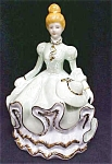 Click here to enlarge image and see more about item MUSIC80: Music Box Southern Belle Porcelain Exquisite