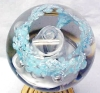 Click to view larger image of Royal Glass Paperweight Sky Blue White Silver (Image2)