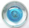 Click to view larger image of Artist Glass Paperweight Blue Anemone (Image2)