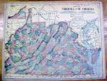 Click to view larger image of Antique Map Maryland/Deleware/W. Virginia 1902 (Image3)