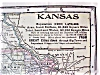 Click to view larger image of Antique Map Kansas 1906 Large Fold Out Size (Image2)