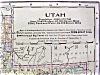 Click to view larger image of Antique Map Utah Montana 1906 Nice Colors (Image2)