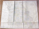 Antique Map Missouri 1906 Large Fold Out