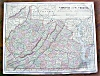 Click to view larger image of Antique Map Maryland Delaware Virginia West Virginia (Image3)