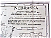 Click to view larger image of Antique Map Nebraska 1906 Large Fold Out (Image2)