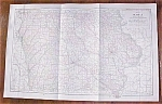 Antique Map Iowa 1906 Large Fold Out
