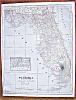 Click to view larger image of Antique Map Alabama Florida 1906 (Image3)