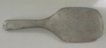 Click here to enlarge image and see more about item PRIM32: Nice Old Metal Butter Paddle Pewter
