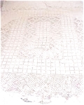 Click here to enlarge image and see more about item QUILT010: Lace Tablecloth Beautiful Pattern
