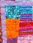 Click to view larger image of Quilt Crazy Patch Throw 50 x 71 inch Bright Colors (Image3)