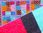Click to view larger image of Quilt Crazy Patch Throw 50 x 71 inch Bright Colors (Image4)