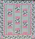 Click to view larger image of Quilt Queen Size 82 x 92 inch Magnolias Stripes (Image1)