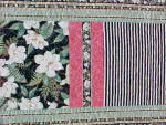 Click to view larger image of Quilt Queen Size 82 x 92 inch Magnolias Stripes (Image2)