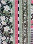 Click to view larger image of Quilt Queen Size 82 x 92 inch Magnolias Stripes (Image3)