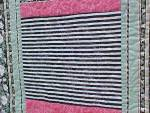 Click to view larger image of Quilt Queen Size 82 x 92 inch Magnolias Stripes (Image5)